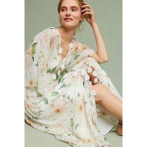 Anthro FARM RIO Dahlia Floral lined Maxi dress